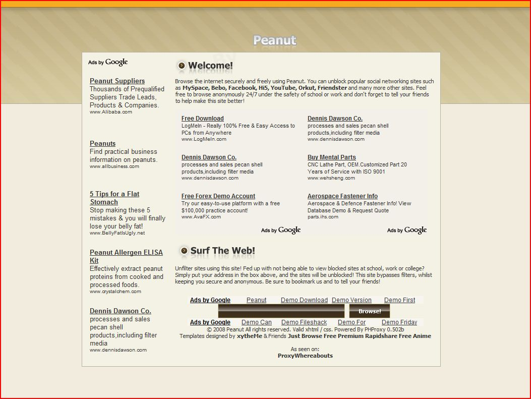 Peanut PHProxy Template